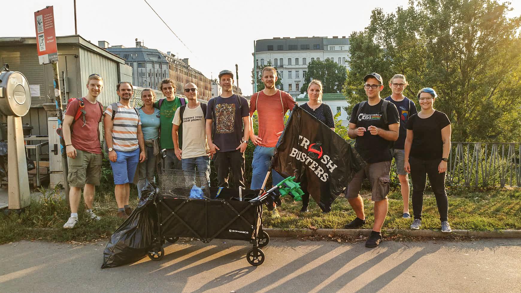 Trashbusters Donaukanal