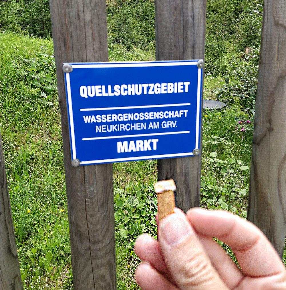 Zigarettenstummeln in Naturschutzgebieten